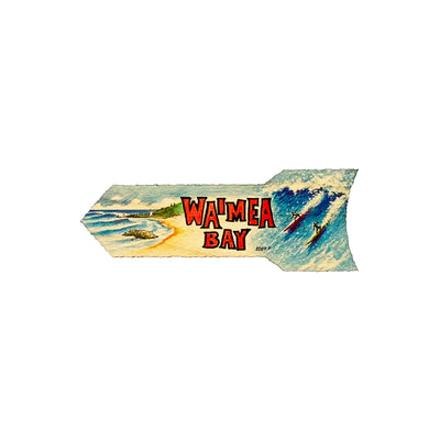 WAIMEA BAY 5.25 SM DIRECTIONAL SIGN