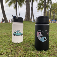 Load image into Gallery viewer, ALOHA HEART WAVE 14 OZ WATER BOTTLE