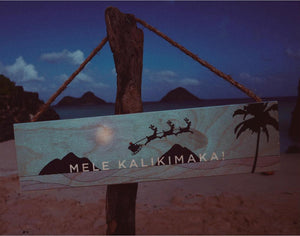 LANIKAI SANTA 15X4 ROPE SIGN