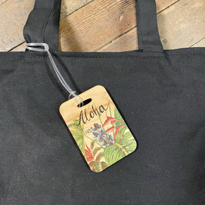 IN THE GARDEN WOOD BAG TAG