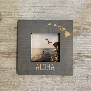 TEAL ALOHA ISLANDS MINI PICTURE FRAME