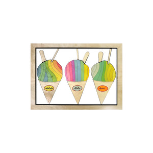 SHAVE ICE SMALL CUTOUT ART