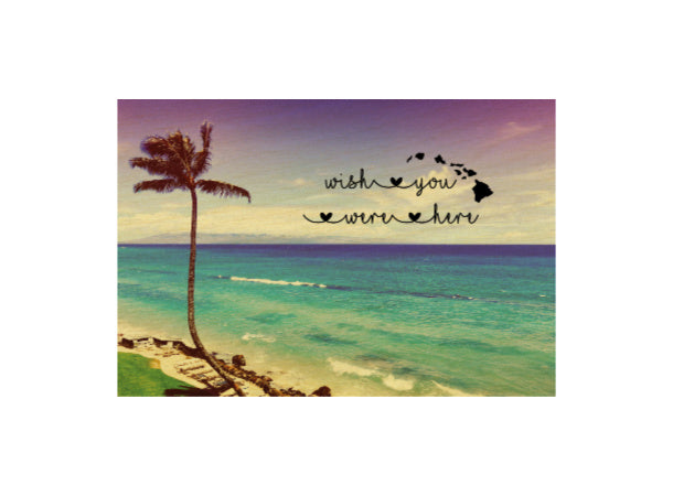 LAHAINA PALM WISH YOU WERE HERE POSTCARD