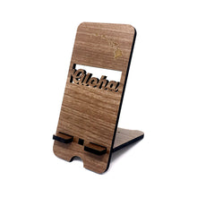 Load image into Gallery viewer, ALOHA ROMAN WALNUT PHONE STAND