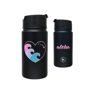 ALOHA HEART WAVE 14 OZ WATER BOTTLE