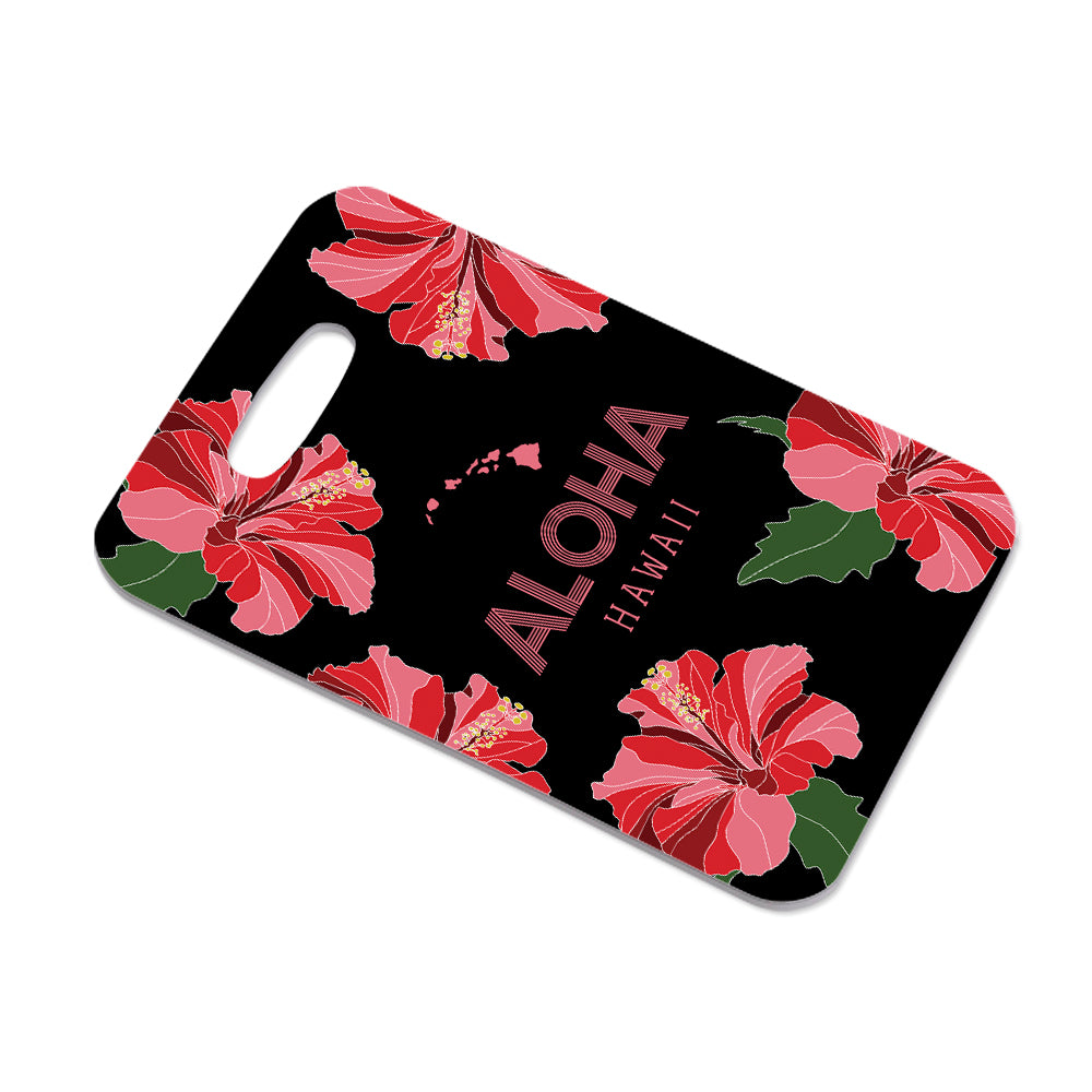 ALOHA HAWAII FLOWERS BAG TAG