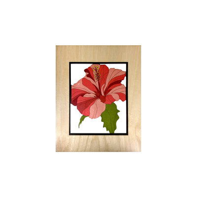 HIBISCUS SMALL CUTOUT ART