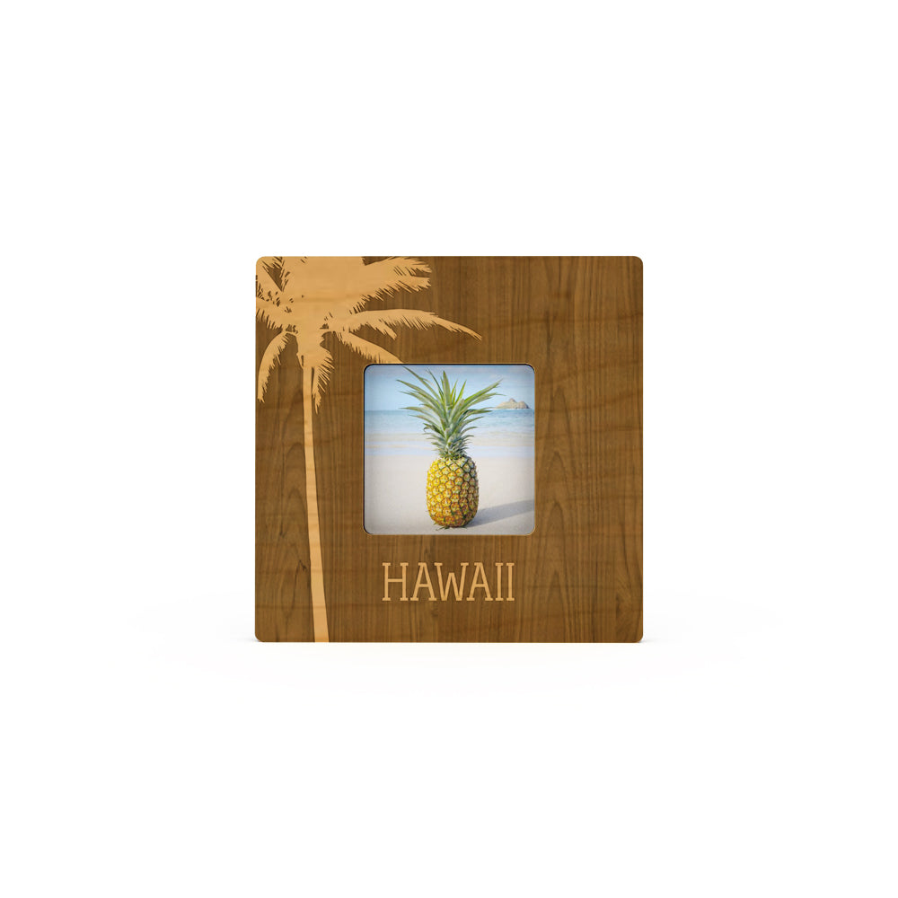 Palm Silhouette Hawaii Mini Picture Frame