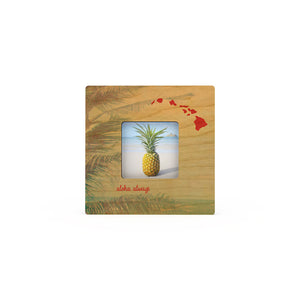 Palm Leaf Islands Mini Picture Frame