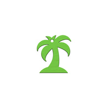 Load image into Gallery viewer, PALM TREE KEYCHAIN