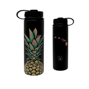 PINEAPPLE HEARTS 22 OZ WATER BOTTLE