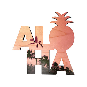 ALOHA STACKED LARGE MAGNET