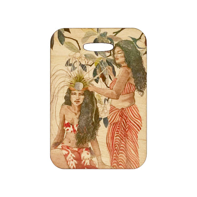 MAGNOLIA HEADDRESS WOOD BAGTAG