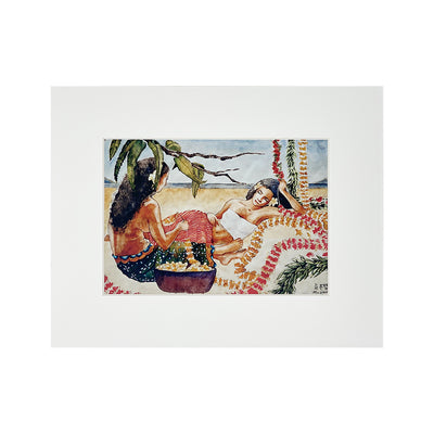 LOUNGING LEI MAKERS MATTED PRINT