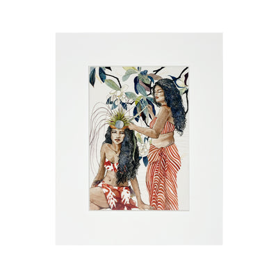 MAGNOLIA HEADDRESS MATTED PRINT