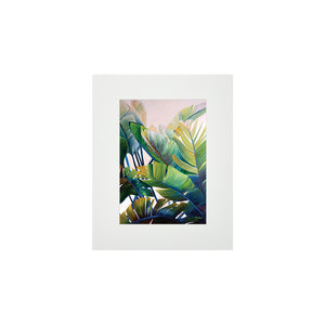 BANANA PALMS MATTED PRINT