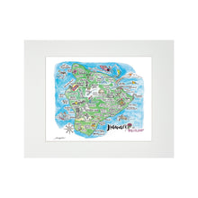Load image into Gallery viewer, BIG ISLAND WATERCOLOR MAP MATTED PRINT