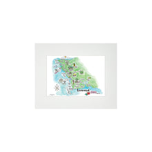 Load image into Gallery viewer, LEEWARD WATERCOLOR MAP MATTED PRINT