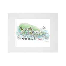 Load image into Gallery viewer, SOUTH SHORE WATERCOLOR MAP MATTED PRINT