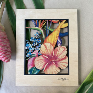 BOTANICAL BLEND 11X14 CUTOUT WALL ART