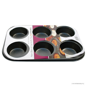 Prima Non Stick Carbon Steel 6 Muffin Pan