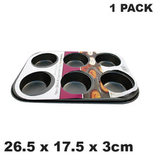 Load image into Gallery viewer, Prima Non Stick Carbon Steel 6 Muffin Pan