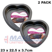 Load image into Gallery viewer, Prima Non Stick Carbon Steel Heart Shaped Cake Pan