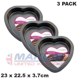 Prima Non Stick Carbon Steel Heart Shaped Cake Pan
