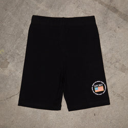 Emblem Biker Shorts In Black