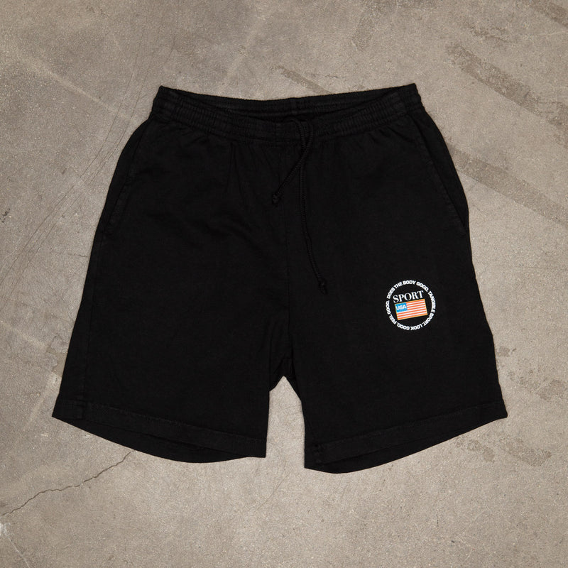 Emblem Gym Shorts In Black