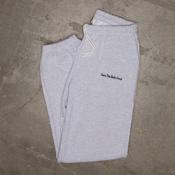 Slogan Embroidered Sweatpant In Grey