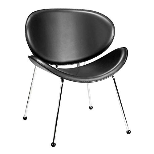"24"" X 25"" X 29"" 2 Pcs Black Leatherette Chair"