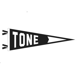 "Oxford ""Tone"" Pennant Black & White"