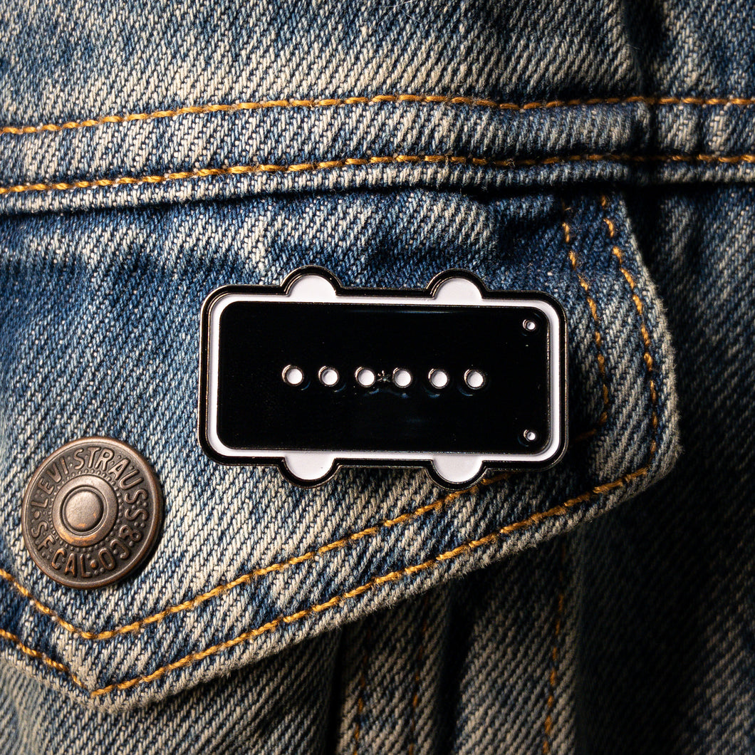 Black Bobbin Enamel Pin