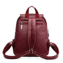 Load image into Gallery viewer, Fashion Tassel Leather Backpack Women 2020 New Women Backpack Large Capacity School Backpack Female School Bags - ladystreets