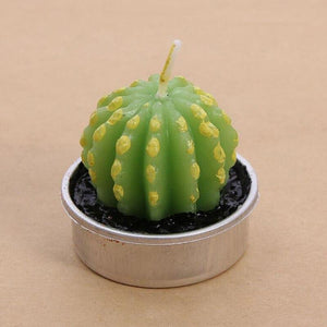 1pcs Fruit Plant Simulation Candle Scented Candle Valentine Day Gift Party Ornament Home Decoration Creative 3D Cactus Candles - ladystreets