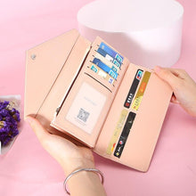 Load image into Gallery viewer, WEICHEN HOT Geometric Envelope Wallet Women Brand Designer Female Wallet Card Holder Phone Coin Pocket Ladies Purse High Quality - ladystreets