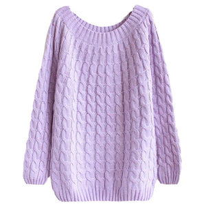 Sfit Twist Pattern Sweaters Women Autumn Winter Fashion Basic Pullover Female Jumpers Long Sleeve Pull Femme Casual Knitted
