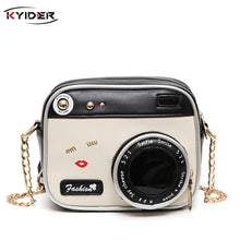 Load image into Gallery viewer, Camera Shaped Lip Handbag Shopping Tote Bolsa Mujer Small Flap New Funny Women Leather Shoulder Messenger Cross Body Bag - ladystreets