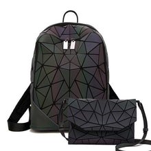Load image into Gallery viewer, Luxury Women Backpacks Luminous Geometric Backpack For Teenage Travel School Bag Multi-functional Backpack Fashion Shoulder Bags - ladystreets