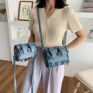 Fashion Simple Lady Shoulder Handbag Female Bag Fashion Cross Body Bag Design Quality PU Leather Flap Bags For Women Bag Sac - ladystreets