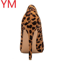 Load image into Gallery viewer, Sexy Women Pumps Spring/Autumn High heels Pointed Toe leopard Female Wedding Shoes Sexy High Heel shoes for Women Pumps - ladystreets