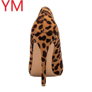Sexy Women Pumps Spring/Autumn High heels Pointed Toe leopard Female Wedding Shoes Sexy High Heel shoes for Women Pumps - ladystreets