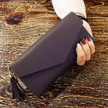 Load image into Gallery viewer, Tassel Women Wallet Fashion Wallets Multifunction PU Leather Women's Long Design Purse Female Card Holder Long Lady Clutch Purse - ladystreets
