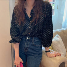 Load image into Gallery viewer, HziriP 2020 All Match Sweet Polka Dots Chic High Street Hot Vintage O-Neck Brief Gentle Elegance Office Lady Fresh OL Shirts