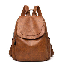 Load image into Gallery viewer, Leather Backpack Women 2020 Fahsion Backpack Female School Bags for Teenage Girls Soft PU Leather Solid Women Backpack - ladystreets