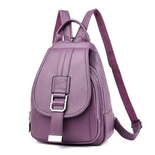 Load image into Gallery viewer, Backpack Women 2020 New Fashion Solid Women Backpack School Bags for Teenage Girls Soft PU Leather Backpack Female - ladystreets