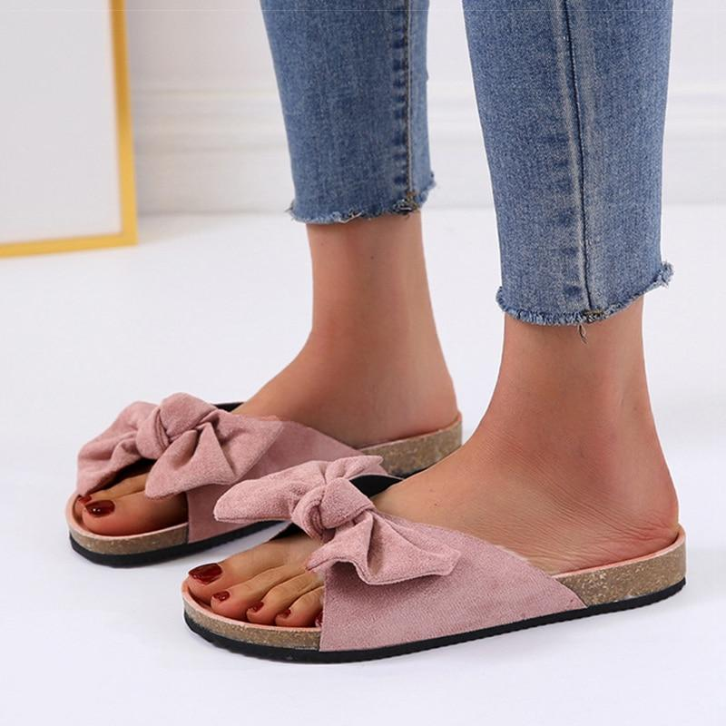 Women Sandals 2020 New Summer Shoes For Woman Flat Sandals Sweet Bowknot Summer Sandalias Mujer Casual Slippers Women Footwear - ladystreets