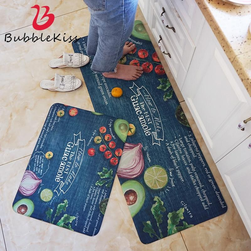 PVC Soft Kitchen Mats For Living Room Rugs Carpets For Decorate Home Mat Floor Door Rug Delicate Anti-Slip Area Rugs Carpet Mat - ladystreets