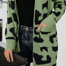 Load image into Gallery viewer, SWQZVT 2020 Autumn Winter New Sweater Women Fashion Casual Leopard Women Cardigan ladies Winter Clothes outwear